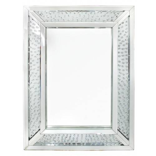Astoria Floating Crystal Rectangle Wall Mirror | Cimc Home In Crystal Wall Mirrors (#1 of 15)