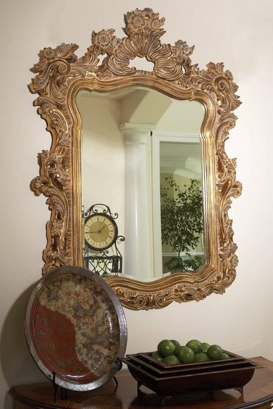 Astoria Grand Gold Framed Wall Mirror & Reviews   Wayfair Within Gold Framed Wall Mirrors (#4 of 15)