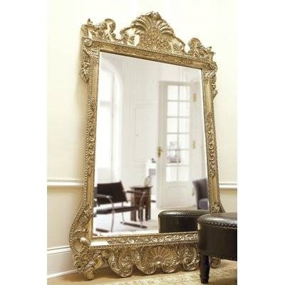 Astoria Grand Rectangle Antique Silver Wall Mirror & Reviews   Wayfair With Antique Silver Wall Mirrors (View 4 of 15)