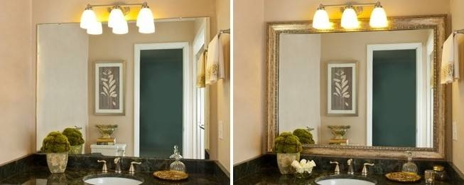 Astounding Large Framed Wall Mirrors Decorating Ideas Gallery In Intended For Framing Bathroom Wall Mirrors (#1 of 15)