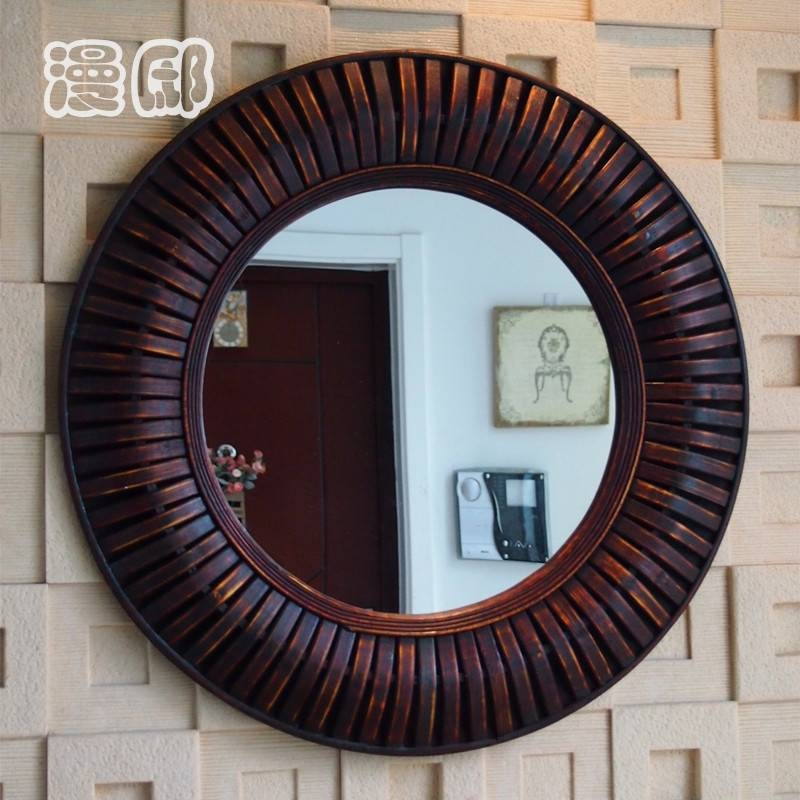 Awesome 30+ Wood Framed Wall Mirrors Inspiration Design Of 25+ With Round Wood Framed Mirrors (#3 of 15)