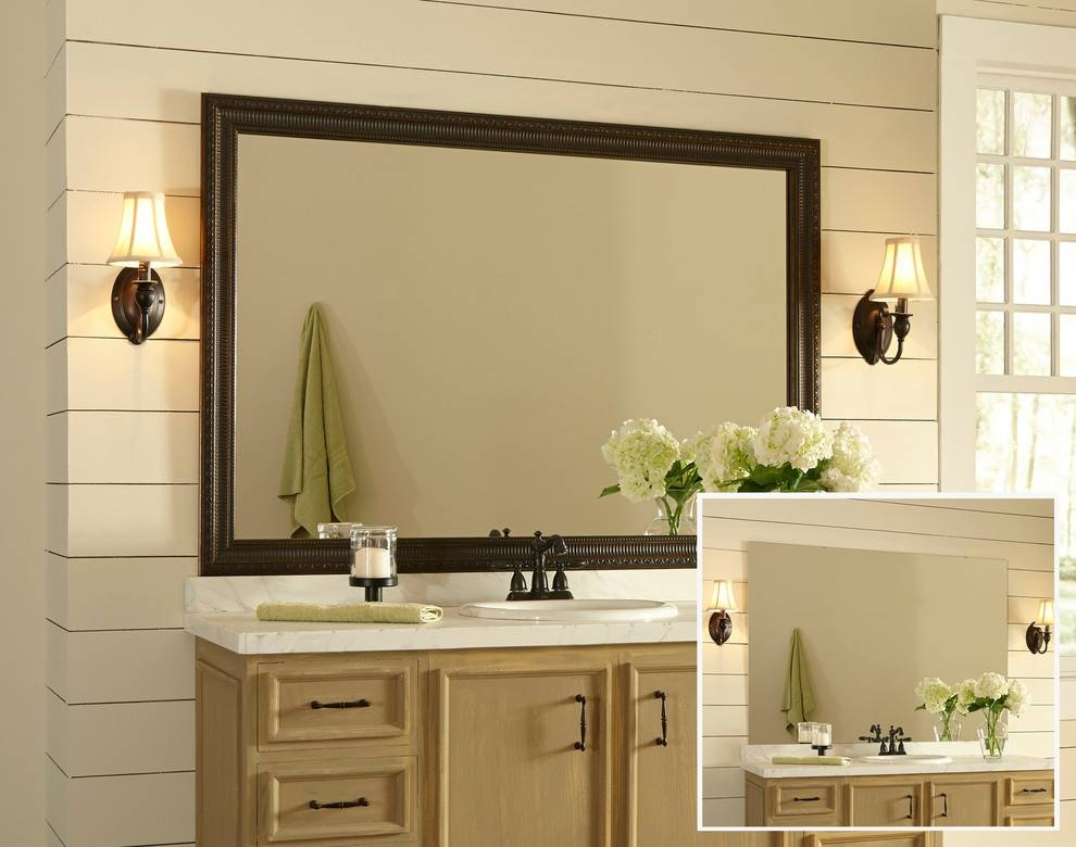 Awesome Large Framed Wall Mirrors Decorating Ideas Gallery In Pertaining To Large Framed Bathroom Wall Mirrors (#2 of 15)