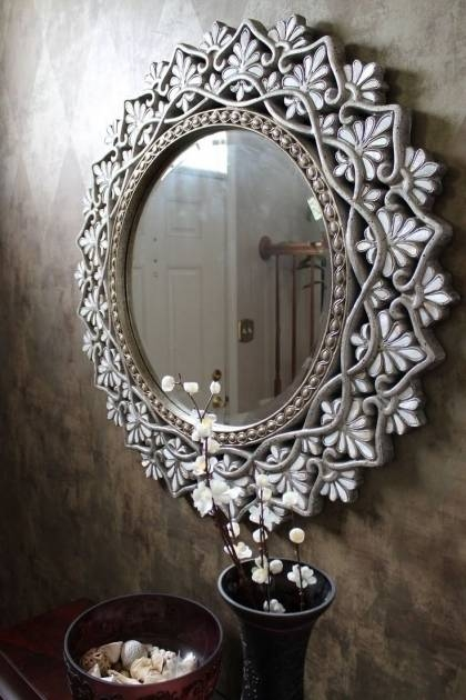 Awesome Rhinestone Wall Mirror Best 25 Decorative Wall Mirrors In Rhinestone Wall Mirrors (View 7 of 15)