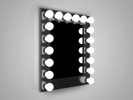 Popular Photo of Wall Mirrors With Light Bulbs