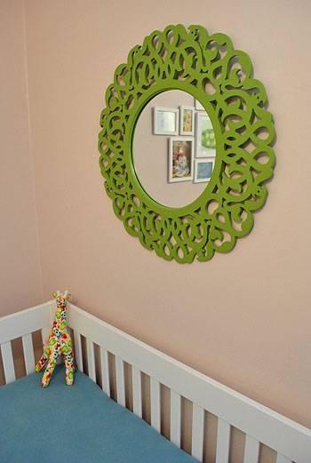 Baby Nursery Decor Claras Room Mirrors For Green Pertaining To Wall