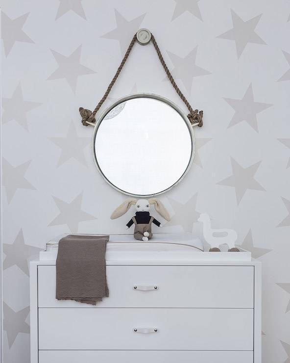 Baby Nursery Decor: Rope Cool Mirrors For Baby Nursery Collection For Baby Wall Mirrors (#3 of 15)