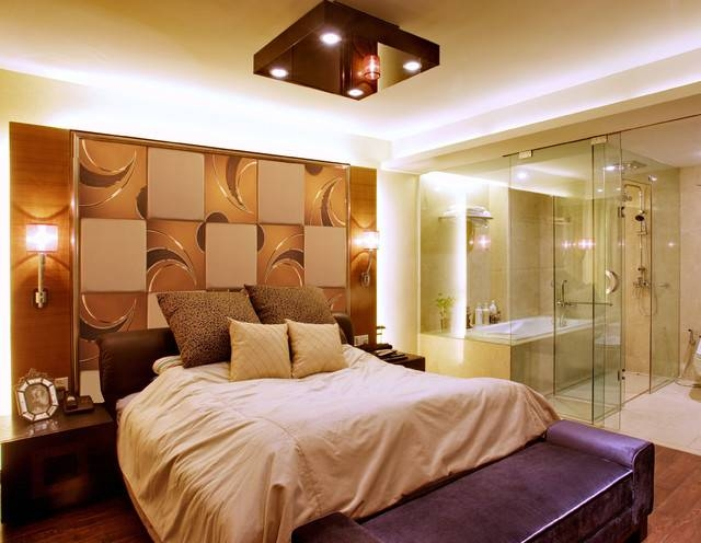 Background Wall,mirror Wall Tiles – Contemporary – Bedroom – Other Throughout Decorative Wall Mirrors For Bedroom (#1 of 15)