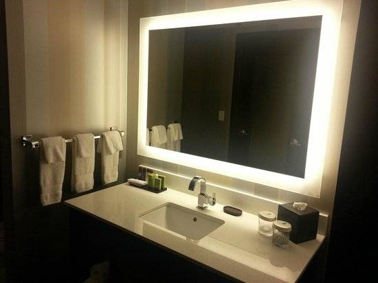 Backlit Bathroom Mirror – Picture Of Embassy Suiteshilton Within Light Up Bathroom Mirrors (#1 of 15)