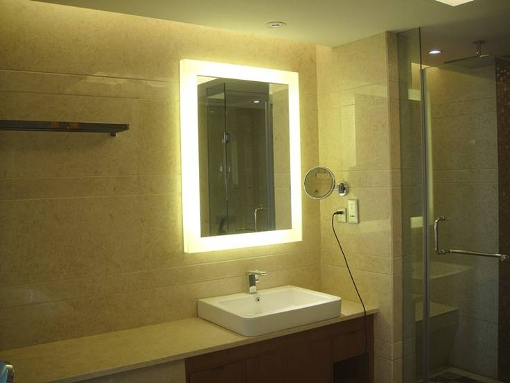 Backlit Bathroom Mirrors | Civilfloor With Regard To Light Up Bathroom Mirrors (#2 of 15)