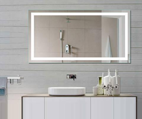 Backlit Bathroom Mirrorsled Bath Mirror Throughout Led Illuminated Bathroom Mirrors (#3 of 15)