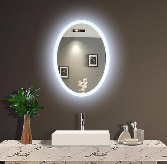 Backlit Mirrors For Bathrooms | Backlit Wall Mirrors | Lighted With Regard To Backlit Wall Mirrors (#6 of 15)