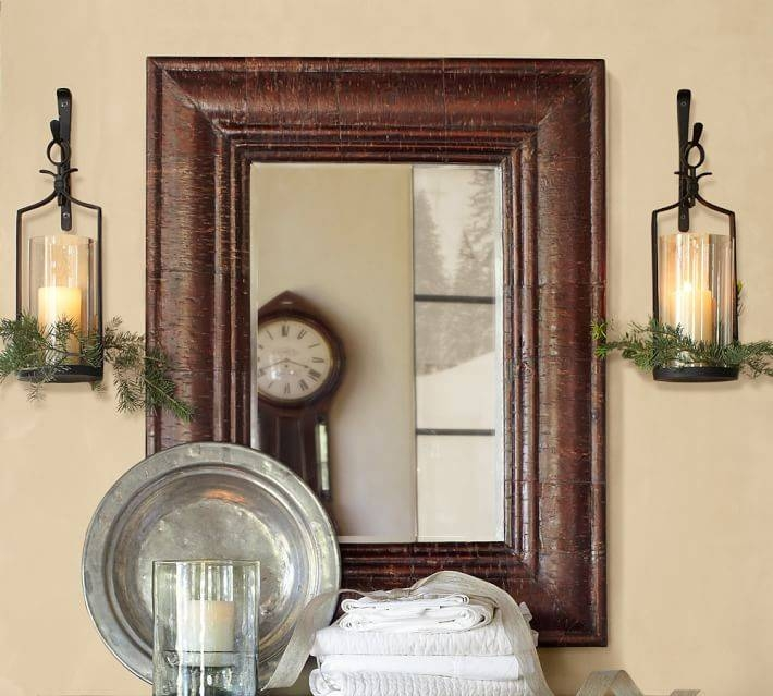 Bark Wrapped Mirror | Pottery Barn With Regard To Pottery Barn Wall Mirrors (#2 of 15)