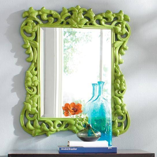Baroque Wall Mirror With Green Wall Mirrors (View 5 of 15)