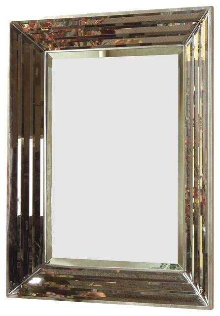 Bassett Mirror Contempo Jewels Rectangular Wall Mirror In Silver Pertaining To Bassett Wall Mirrors (#4 of 15)