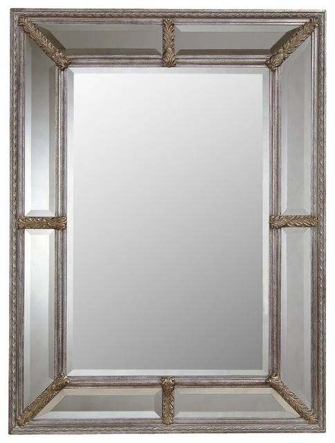 Bassett Mirror Old World Roma Wall Mirror In Antique Silver Leaf In Bassett Wall Mirrors (#6 of 15)