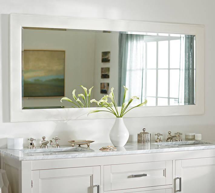 Bathroom Bathroom Mirrors For Double Vanity On Bathroom Within Inside Double Vanity Bathroom Mirrors (#1 of 15)