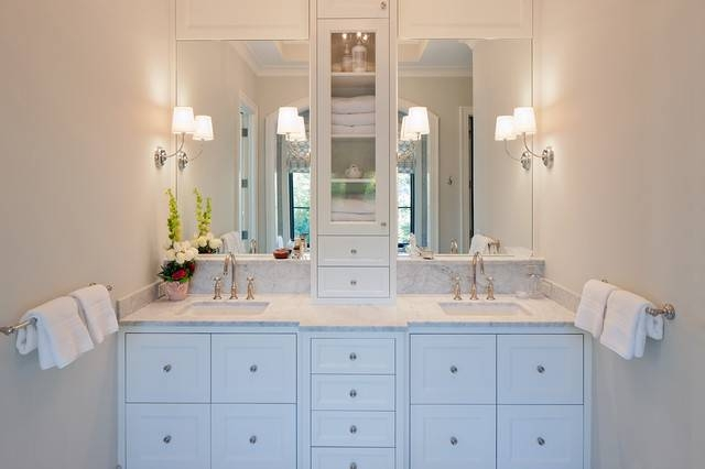 Bathroom Vanity Wall Mirrors On Throughout In Frameless 1