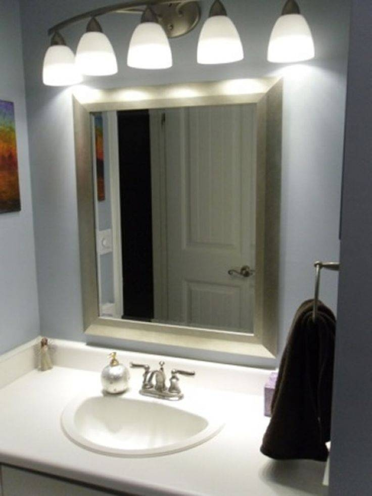 Bathroom Cabinets : Bath Vanity Lights Modern Bathroom Mirrors With Regard To Bathroom Lights And Mirrors (#2 of 15)