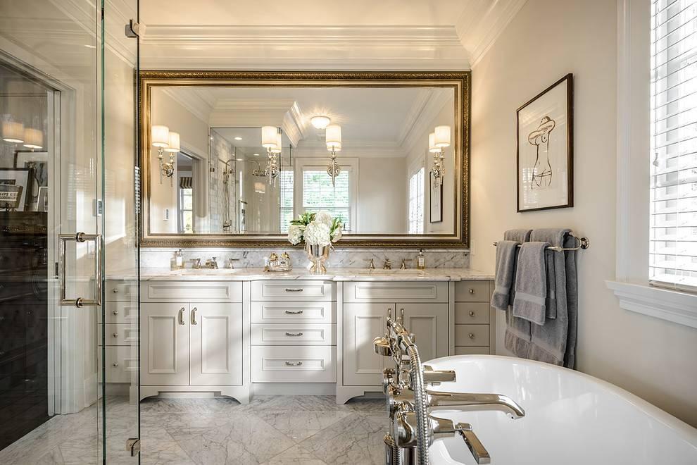 Bathroom Cabinets : Bathroom Framed Mirrors Backlit Bathroom Inside Decorative Mirrors For Bathroom Vanity (#2 of 15)