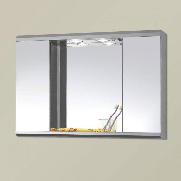 Bathroom Cabinets : Bathroom Mirror Cabinets With Lights Bathroom Intended For Free Standing Bathroom Mirrors (#2 of 15)