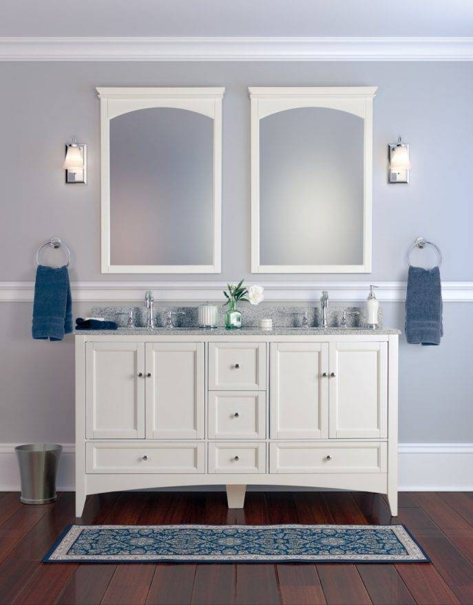 Bathroom Cabinets : Beige Bathroom Window Curtains Square Shape Within Hanging Wall Mirrors For Bathroom (View 13 of 15)