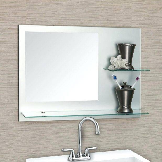 Bathroom Cabinets Cheap Mirrors Fancy Mirror Large Frameless Wall Throughout Big Frameless Wall Mirrors (#2 of 15)