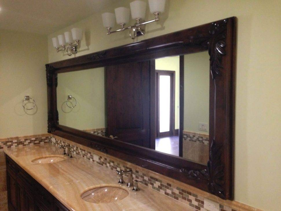 Bathroom Cabinets : Custom Mirrors Installed With Wood Frames For Custom Mirrors For Sale (#5 of 15)