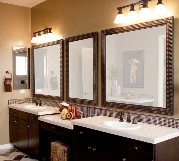 Bathroom Cabinets : Decorative Mirrors For Bathroom Vanity Design In Decorative Mirrors For Bathroom Vanity (#3 of 15)