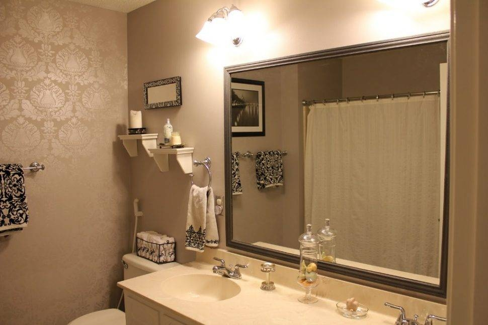 Bathroom Cabinets : Diy Vanity Mirror Mirror Without Frame Mirror Pertaining To Large Wall Mirrors Without Frame (#2 of 15)
