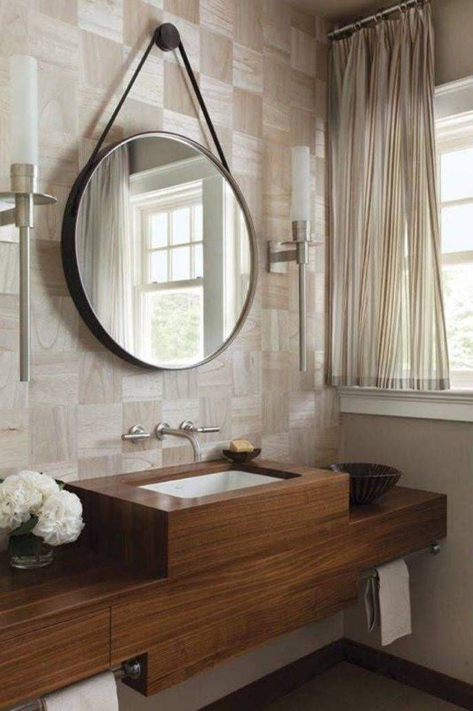 Bathroom Cabinets : Fabulous Round Bathroom Wall Mirrors Also For Hanging Wall Mirrors (View 8 of 15)