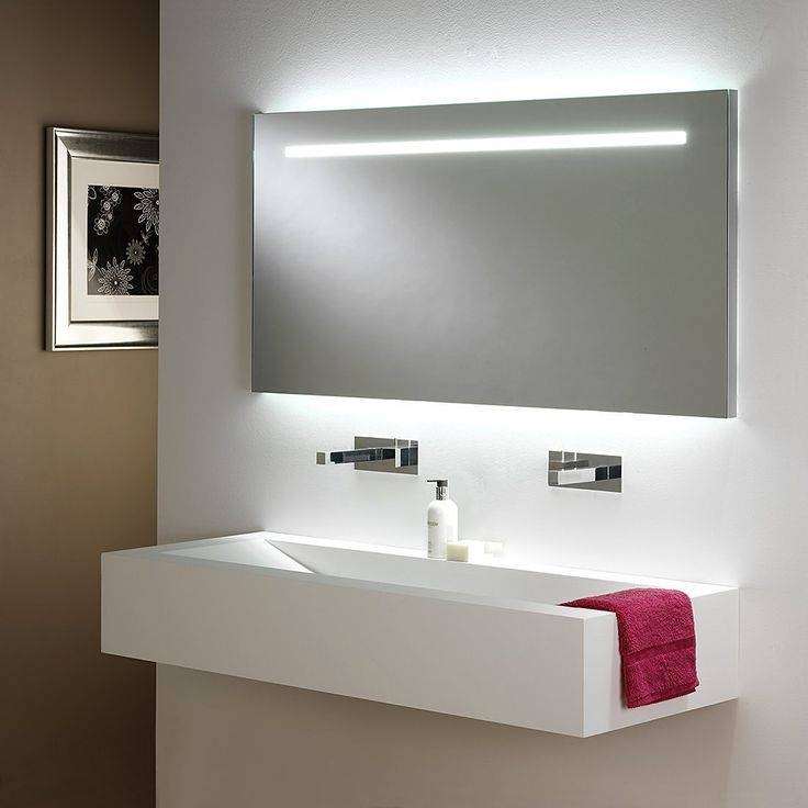 Bathroom Cabinets : Frameless Mirror Bathroom Vanity Lighting With Light Up Bathroom Mirrors (#4 of 15)