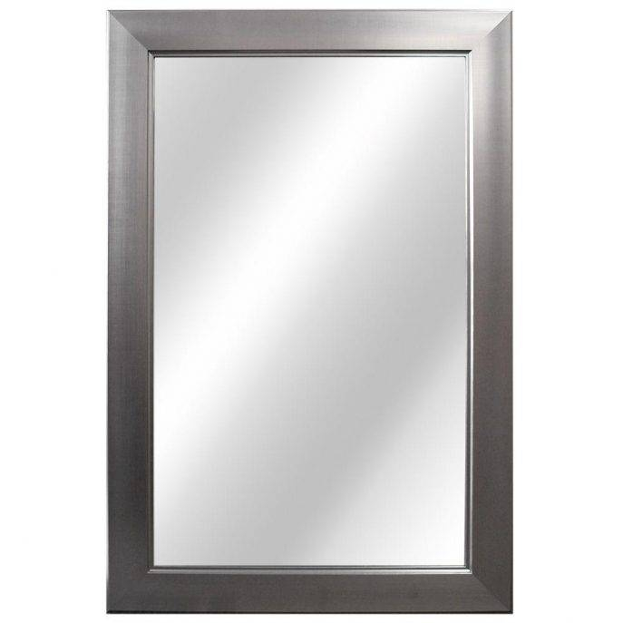 Bathroom Cabinets : Full Wall Mirrors Long White Wall Mirror White Inside White Long Wall Mirrors (View 10 of 15)