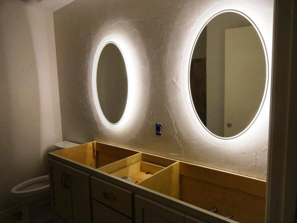Bathroom Cabinets : Illuminated Magnifying Mirror Small Vanity Pertaining To Light Up Wall Mirrors (#2 of 15)