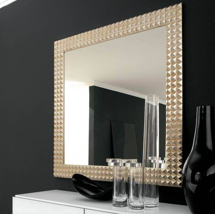 Bathroom Cabinets : Large Black Framed Mirror Vanity With Mirror In Large Black Wall Mirrors (#3 of 15)