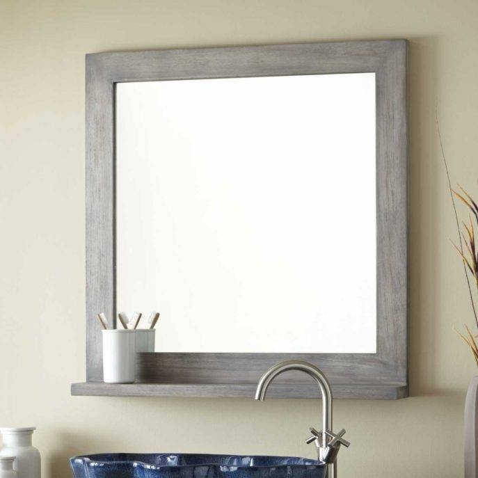 Bathroom Cabinets : Large White Framed Mirror Wood Floor Mirror With Large White Framed Wall Mirrors (#3 of 15)