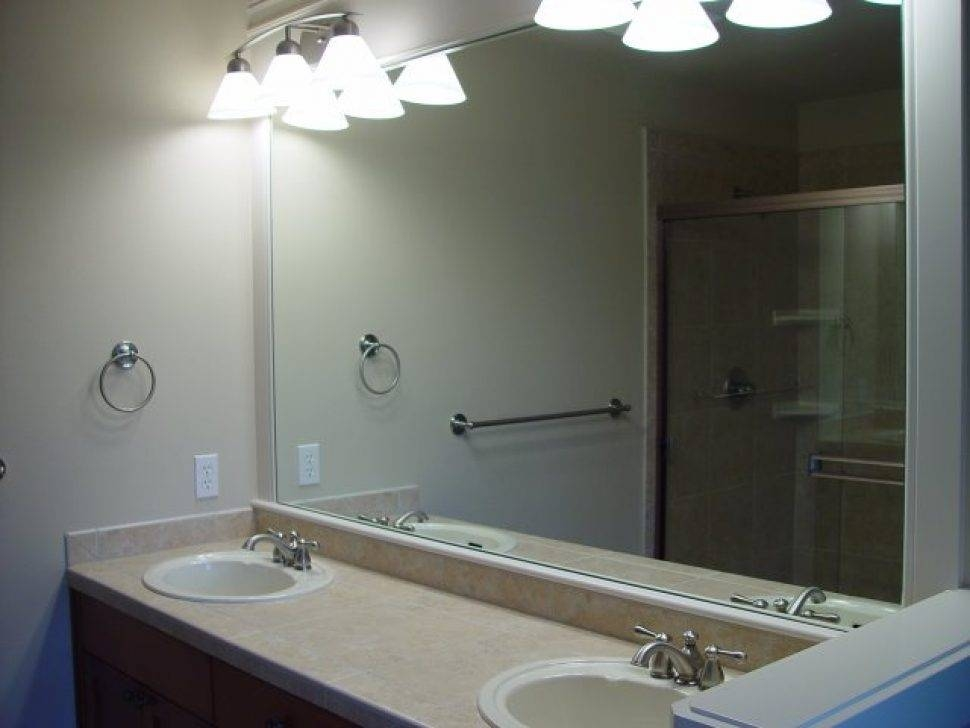 Bathroom Cabinets : Lighted Mirrors For Bathrooms Modern Modern With Regard To Large Flat Bathroom Mirrors (#4 of 15)