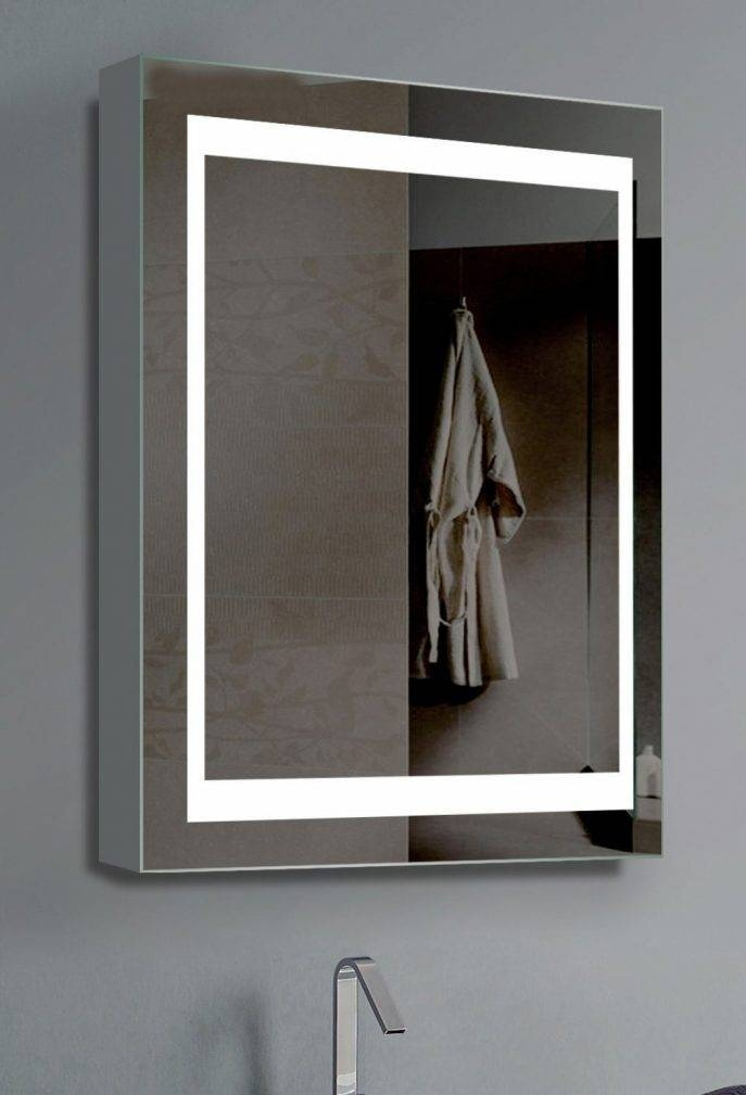 Bathroom Cabinets : Mirror Bathroom Cabinet With Light American In Standard Wall Mirrors (View 5 of 15)