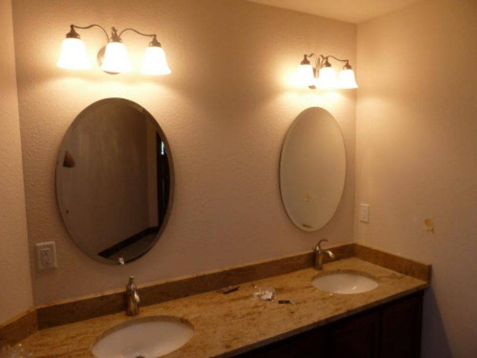 Bathroom Cabinets : Oval Mirrors For Bathroom Tilting Mirror Regarding Brushed Nickel Wall Mirror For Bathroom (#5 of 15)