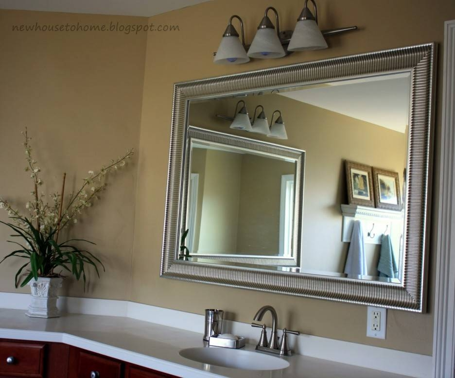 bathroom mirror ideas on wall 15 collection of frames for bathroom wall mirrors 22233