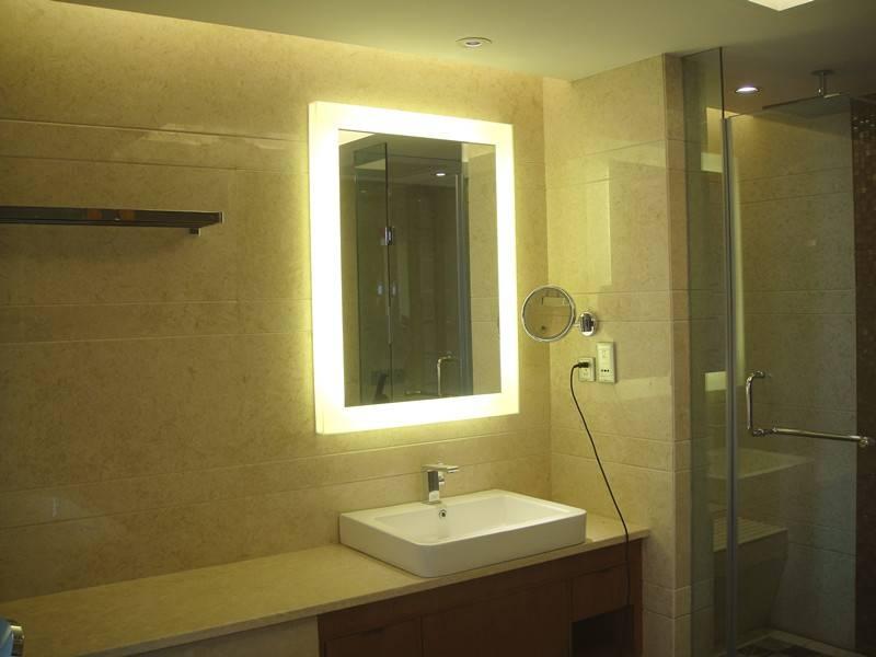 Bathroom Designs: Wonderful Backlit Bathoom Mirrors On The Golden Regarding Backlit Bathroom Wall Mirrors (#6 of 15)