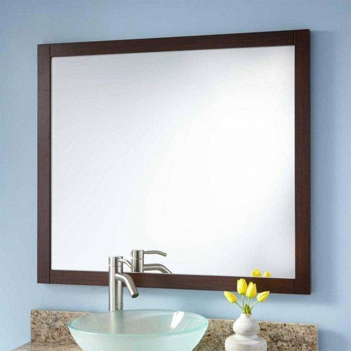 Bathroom : Edge Mirror Mc Black Frame Home Black Rectangular In Seattle Custom Mirrors (View 13 of 15)