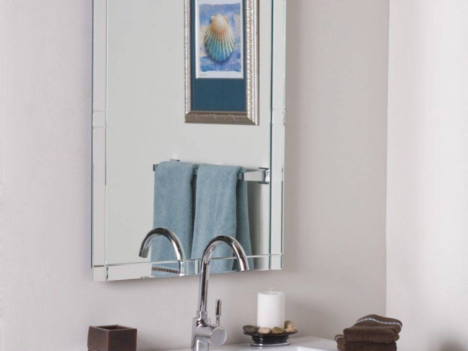 Bathroom : Frameless Bathroom Mirrors 25 Frameless Bathroom Regarding Seattle Custom Mirrors (View 11 of 15)