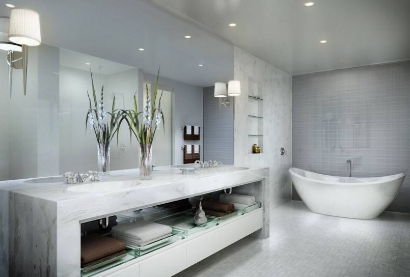 Bathroom: Guidance For Choosing Your Bathroom Wall Mirror Throughout Entire Wall Mirrors (#3 of 15)