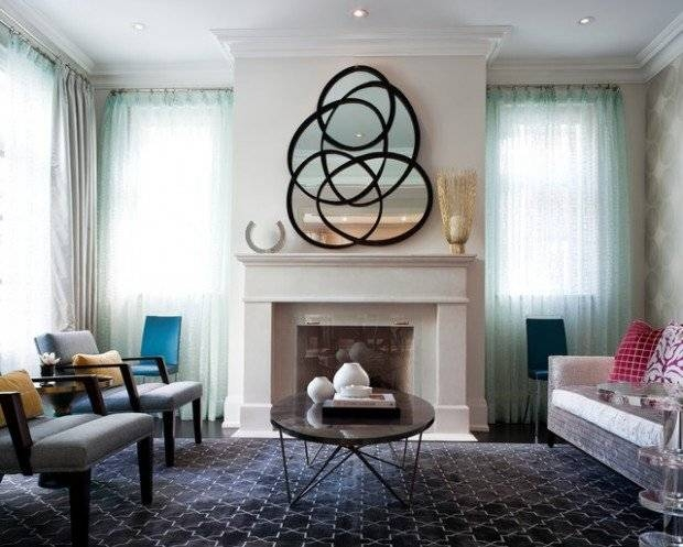 Bathroom Ideas : Beautiful Living Room With Firepace Ideas Plus For Decorative Wall Mirrors For Living Room (#1 of 15)