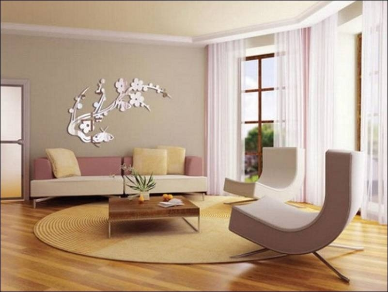Bathroom Ideas : Stylish Modern Living Room Interior Decorating For Decorative Wall Mirrors For Living Room (#2 of 15)