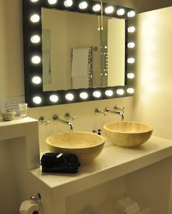 Bathroom Lighting: Charming Lighted Mirrors Bathroom Design For Lighted Vanity Mirrors For Bathroom (#2 of 15)