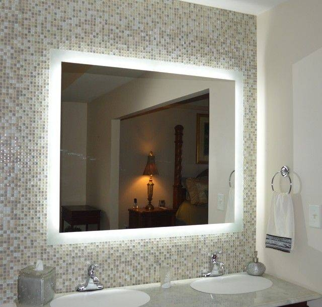 Bathroom Lighting: Charming Lighted Mirrors Bathroom Design In Bathroom Lighted Vanity Mirrors (#8 of 15)