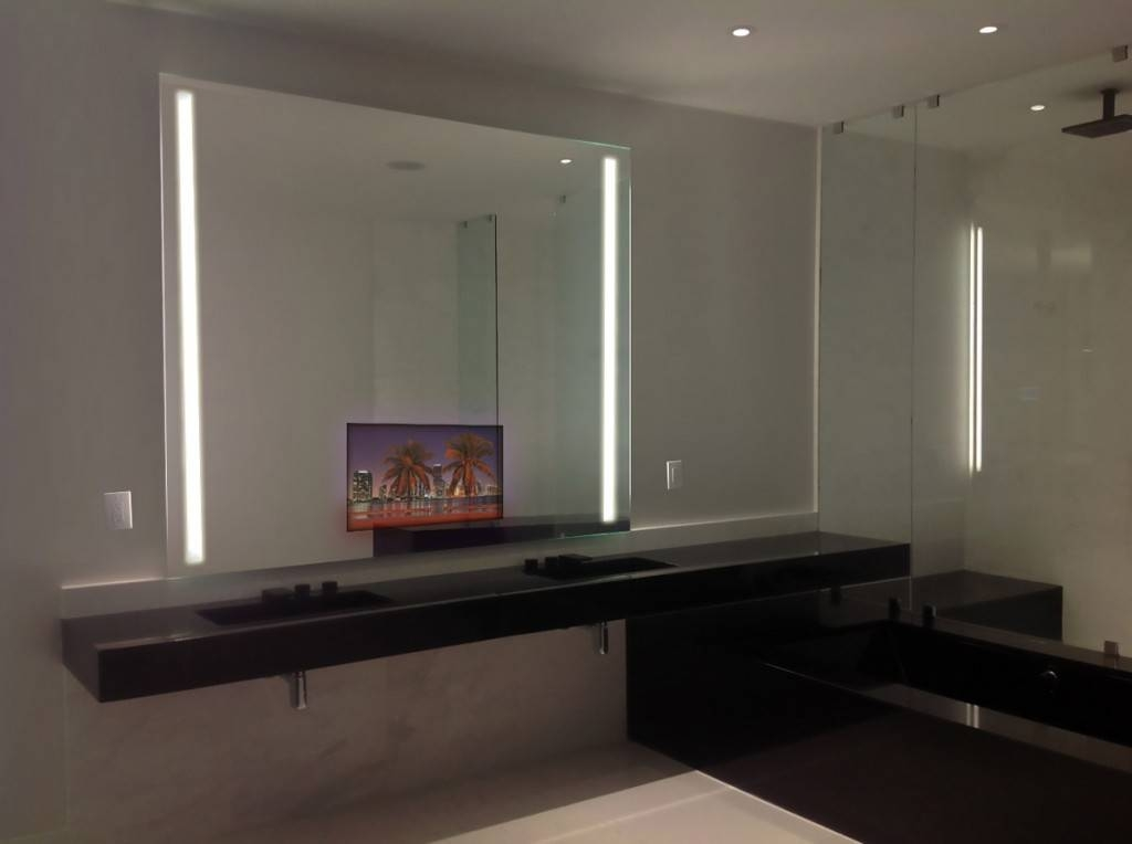 Bathroom Lighting: Charming Lighted Mirrors Bathroom Design Within Led Lighted Mirrors (#2 of 15)