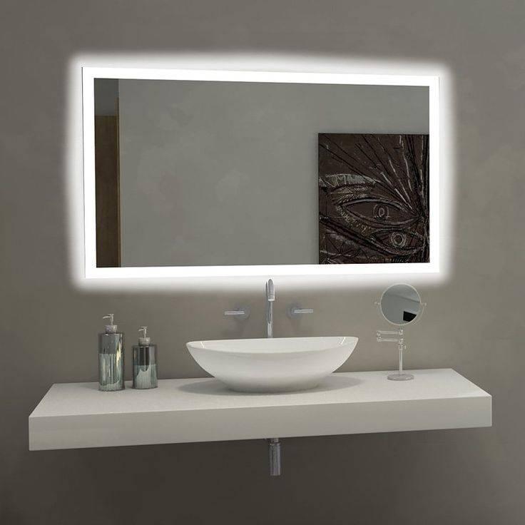 Bathroom Lighting: Extraordinary Bathroom Mirror With Lights In Backlit Bathroom Wall Mirrors (#8 of 15)