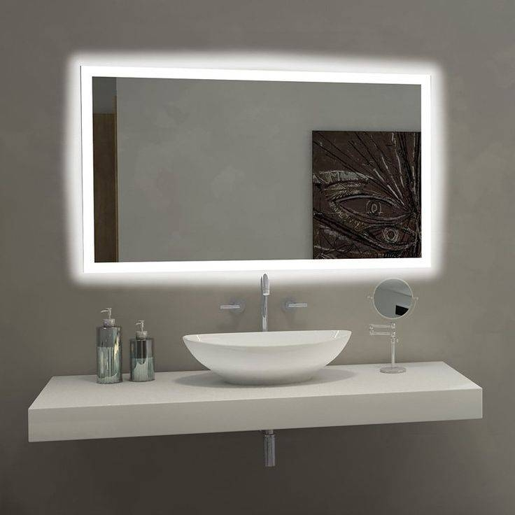 Bathroom Lighting: Extraordinary Bathroom Mirror With Lights With Regard To Wall Mirrors With Light (#2 of 15)